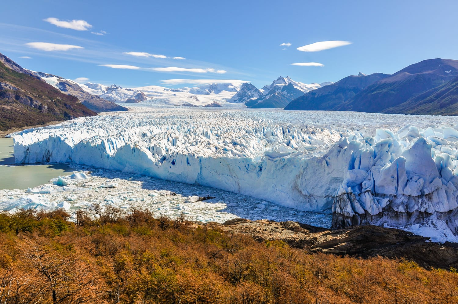 Panoramic view at the Perito Moreno Glacier, Patagonia, Argentina