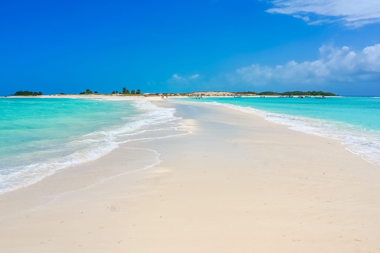 Amazing sand bank at Los Roques National Park in Venezuela