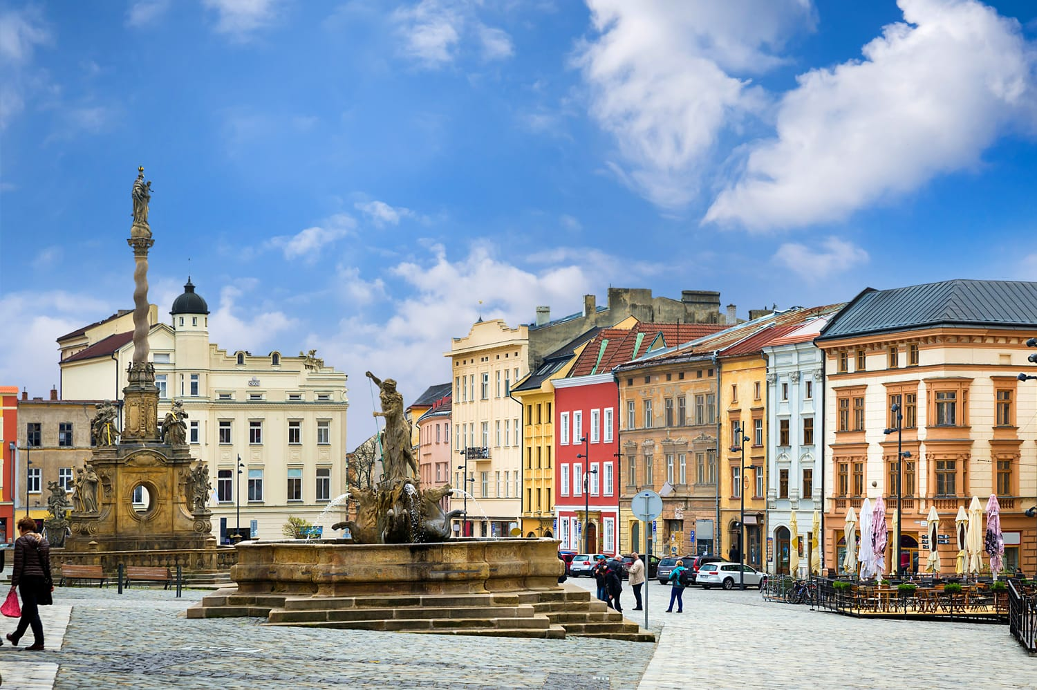 Historical sights of Olomouc in the Czech Republic.