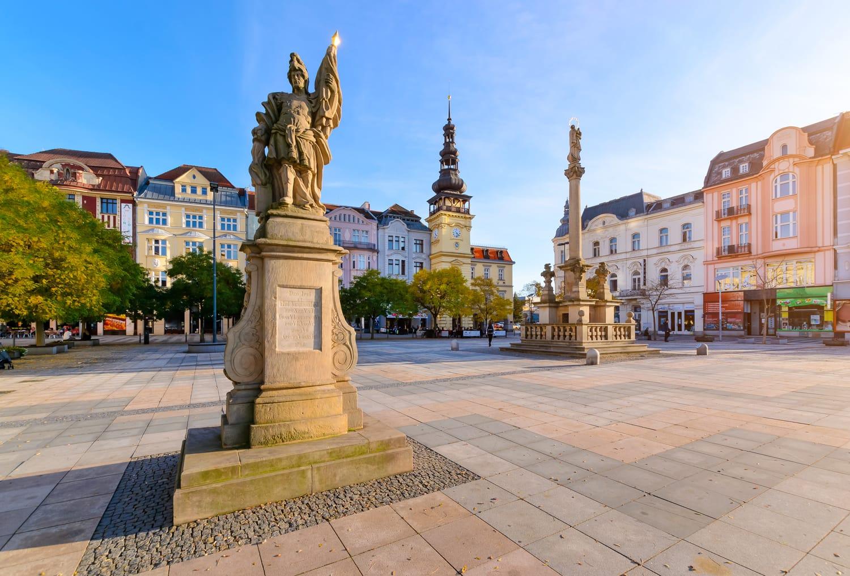 Central square of Ostrava Czech Republic, Europe.