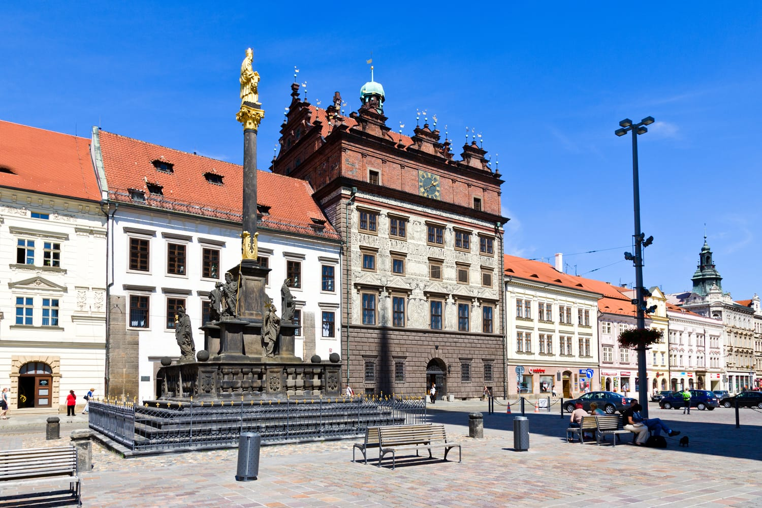 Town Square in Pilsen in Czech Republic