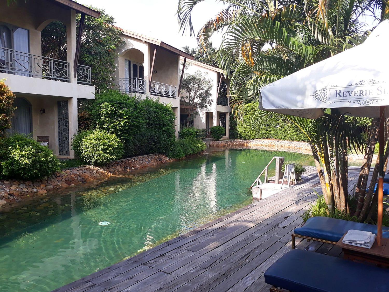 Pool at Reverie Siam Resort in Pai, Thailand