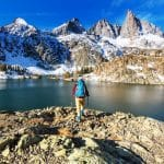 Hike to beautiful Minaret Lake, Ansel Adams Wilderness, Sierra Nevada, California,USA.
