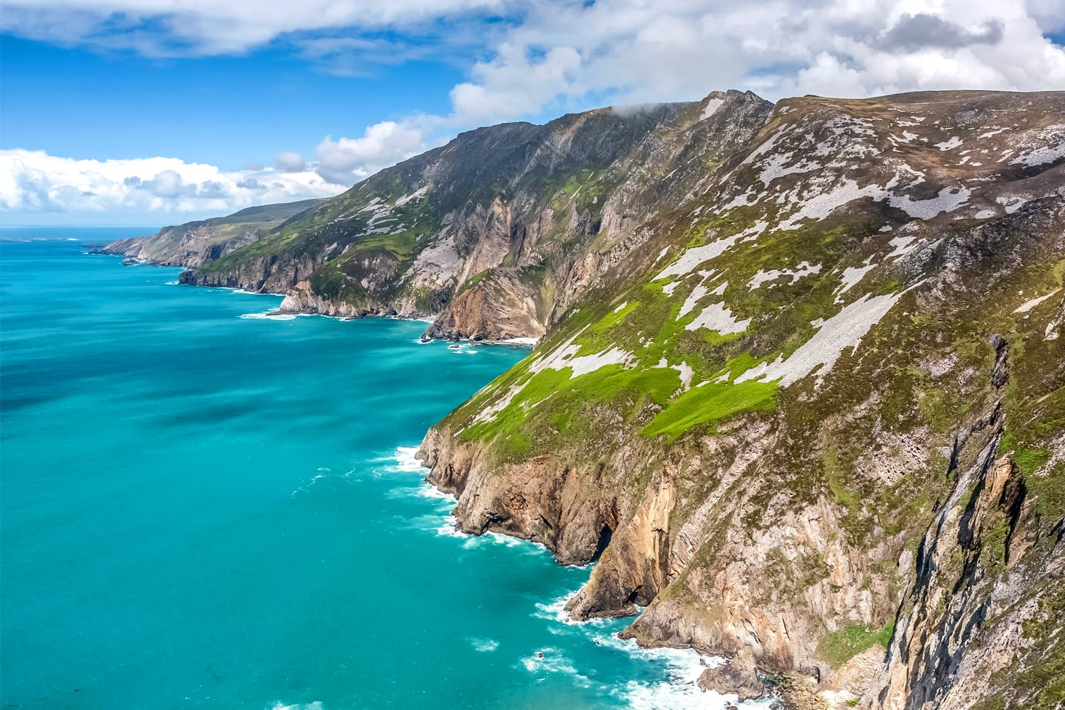 Ireland's tallest sea cliffs called Slieve League in County Donegal