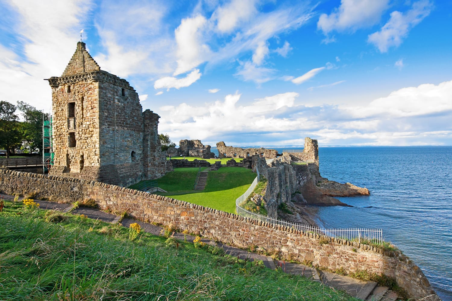 Ruins of St Andrews Castle, Fife, Scotland, United Kingdom