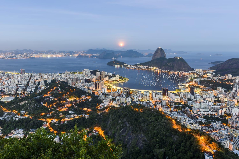 View from Mirante Dona Marta in Parque Nacional da Tijuca, Rio de Janeiro, Brazil