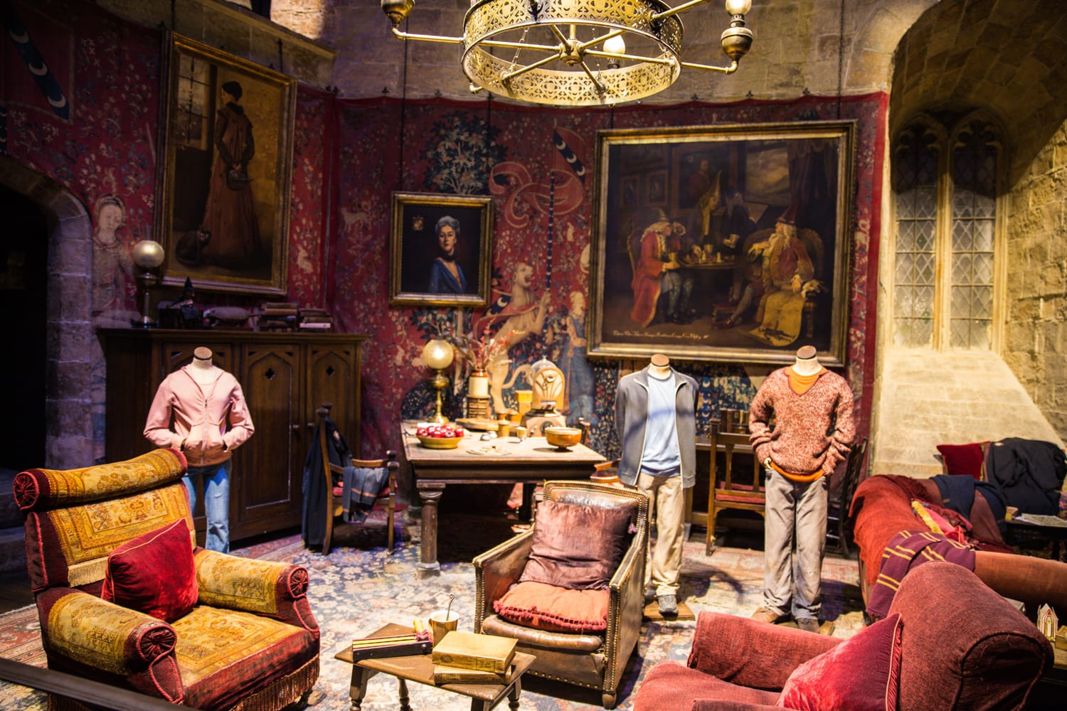 At the common room of Gryffindor, at The Making of Harry Potter, WB Studio