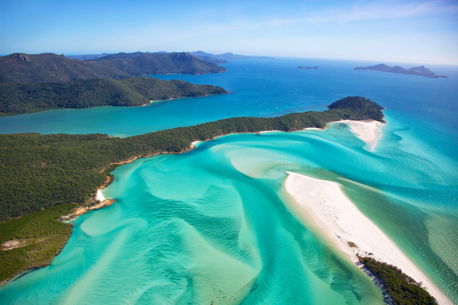 Whitehaven Beach in the Whitsundays Islands National Park in Australia