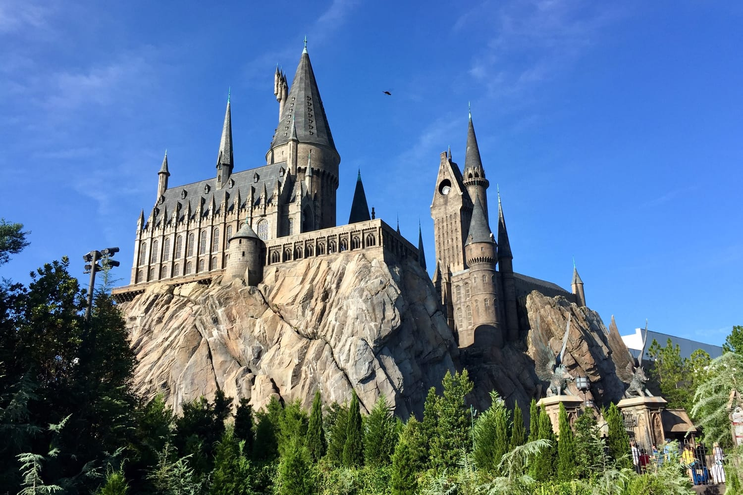 Hogwart in the wizarding world of Harry Potter in Orlando, Florida