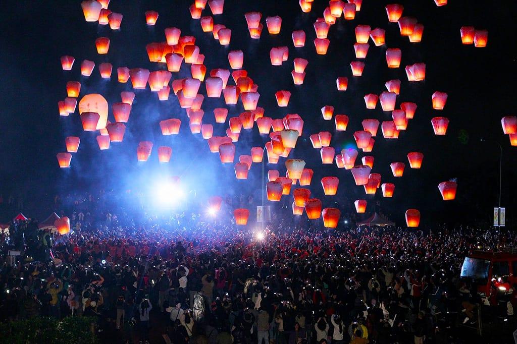 Pingxi (Pingsi) Sky Lantern Festival in Taiwan