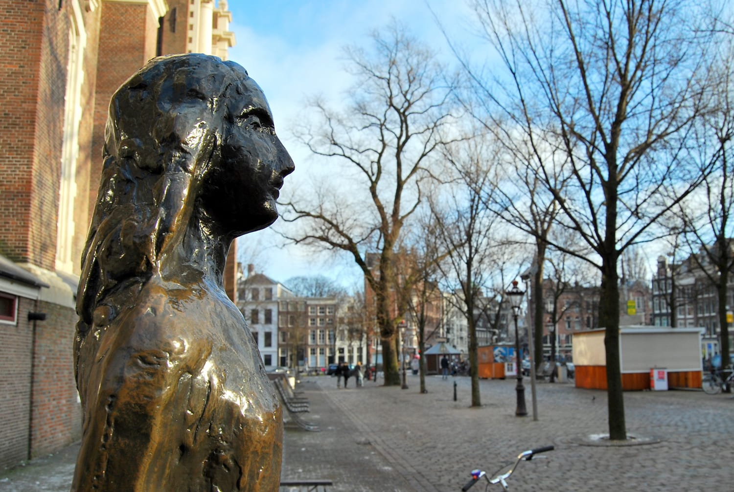 Anne Frank Statue, Amsterdam, The Netherlands, Holland