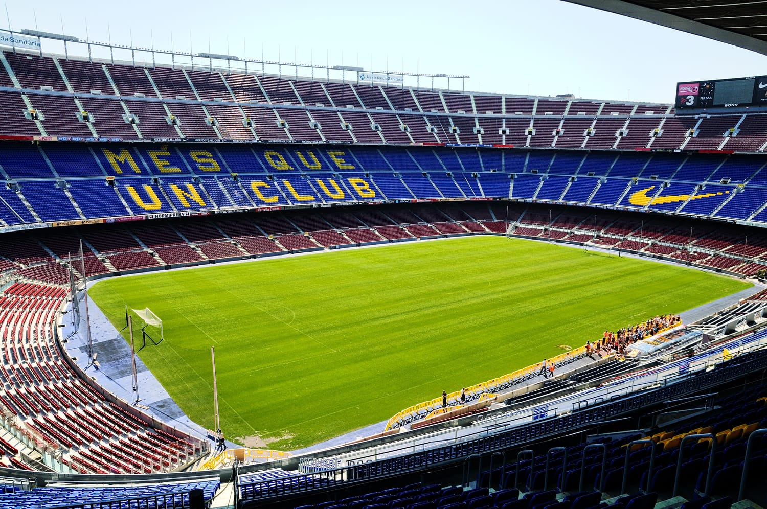 Camp Nou, Stadium of Football Club Barcelona in Barcelona, Spain.