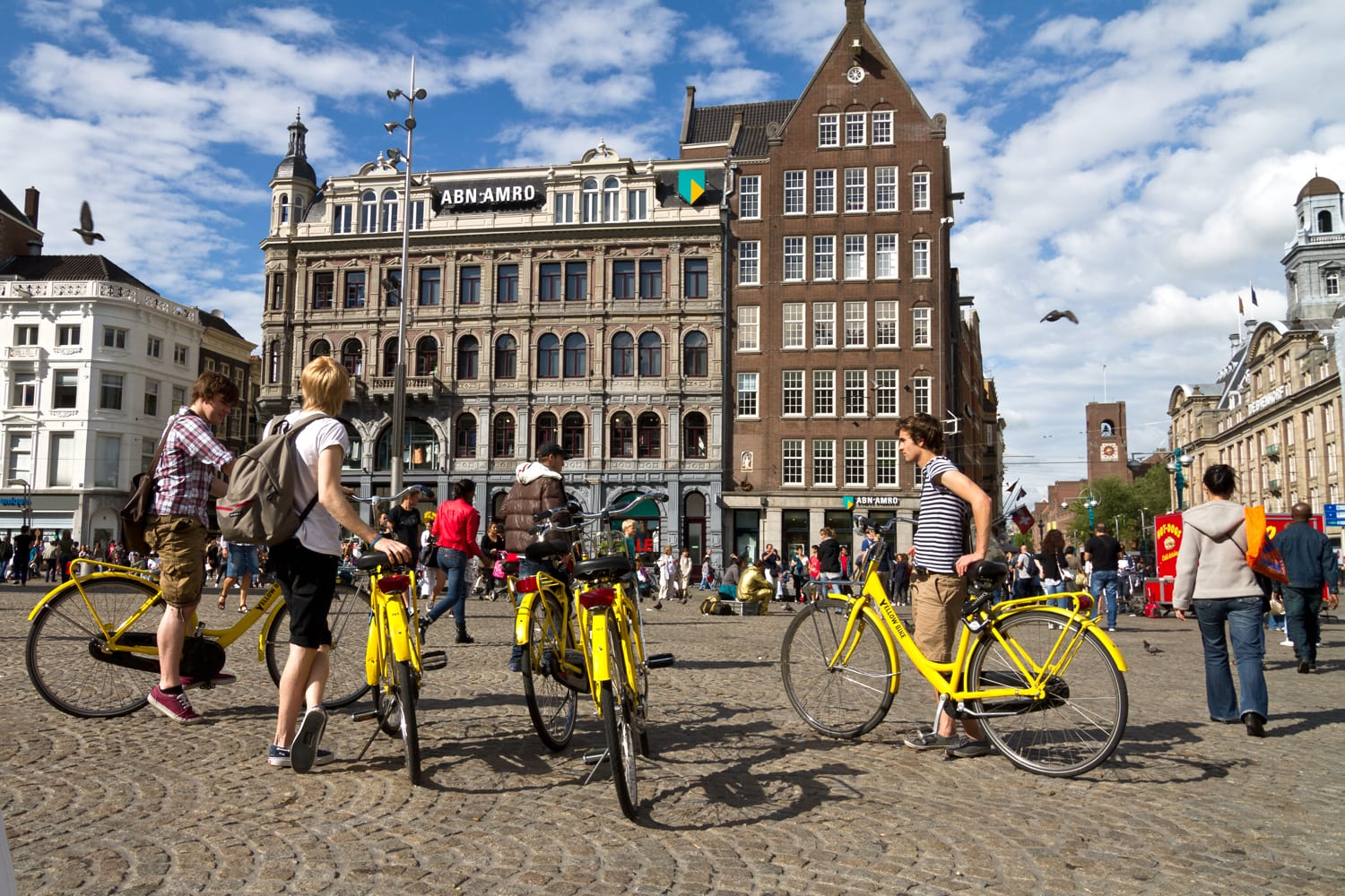 Bike tour in Amsterdam, Netherlands.