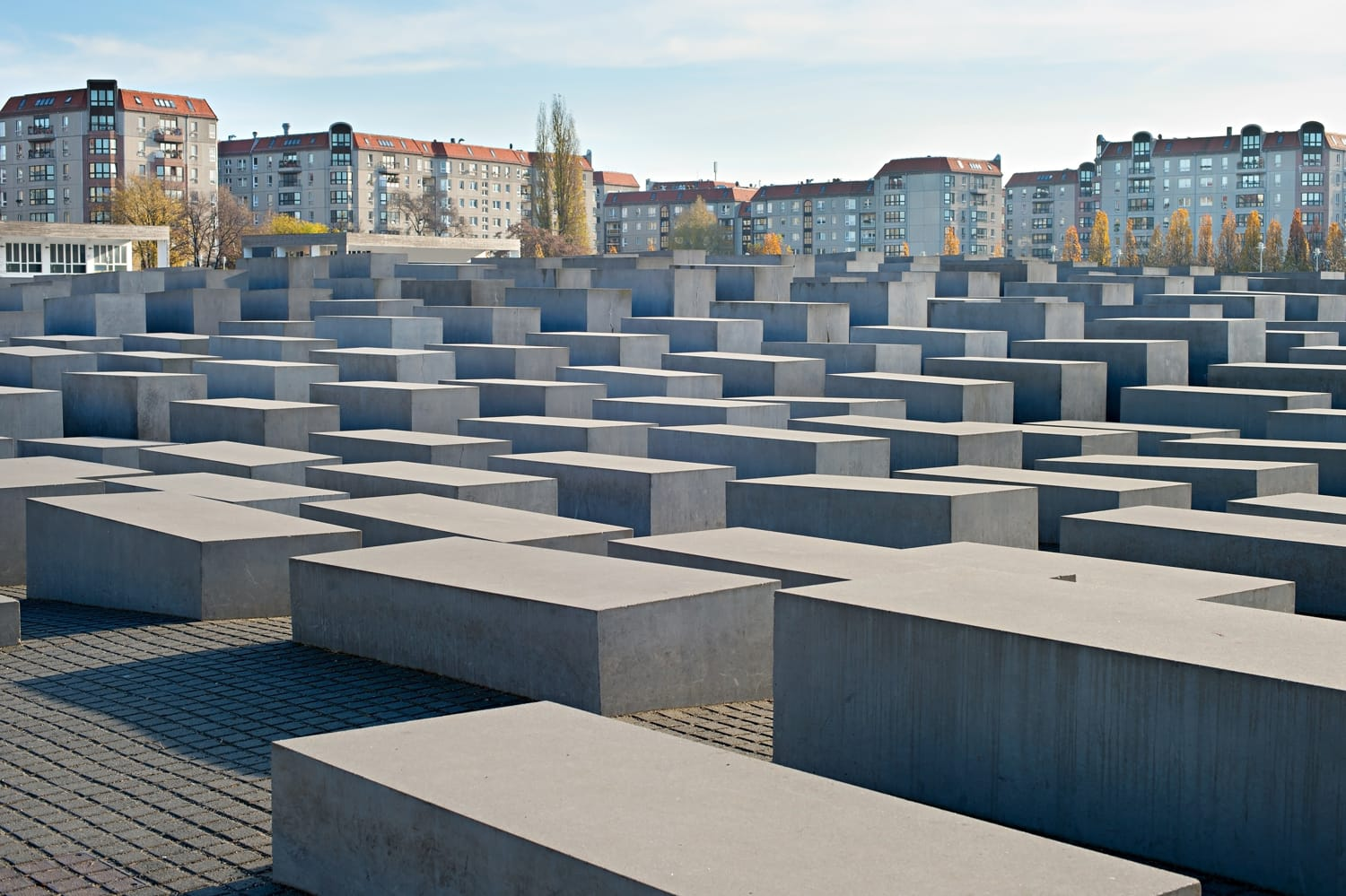 View of Jewish Holocaust Memorial, Berlin, Germany