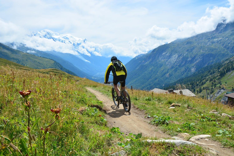 Mountain biking in Chamonix Valley, France