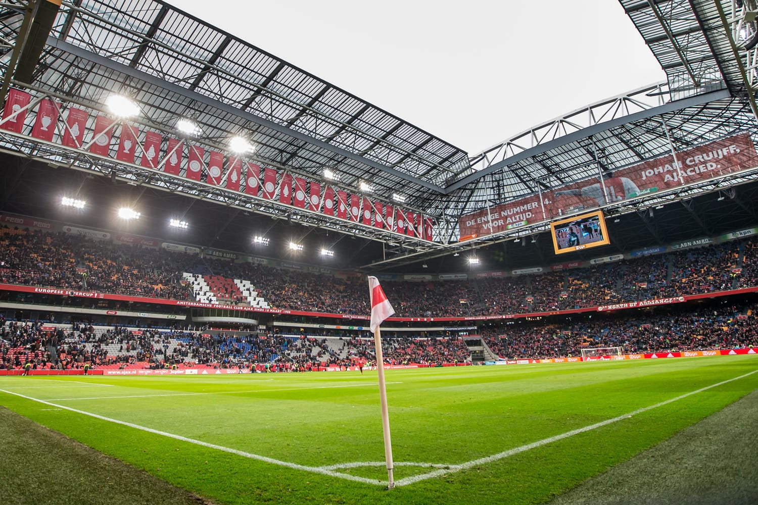 Ajax trainer coach Frank de Boer the ArenA during Dutch Eredivisie match from Ajax , Stadium overview panorama, Amsterdam ArenA