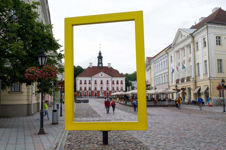 Raekoja Square in Tartu, Estonia