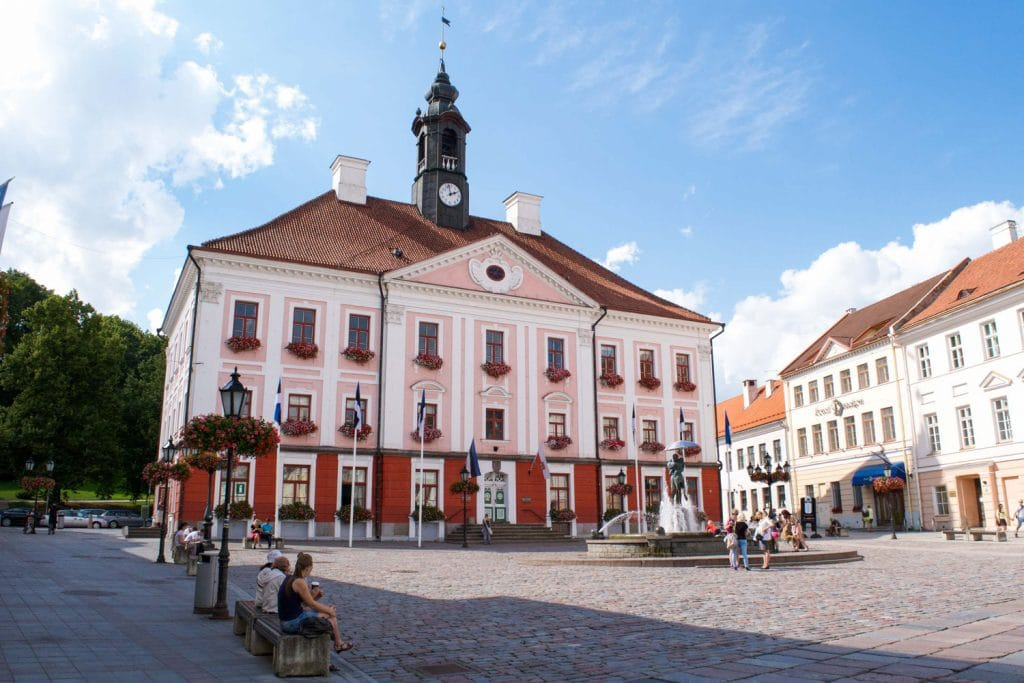 Town Hall in Tartu, Estonia