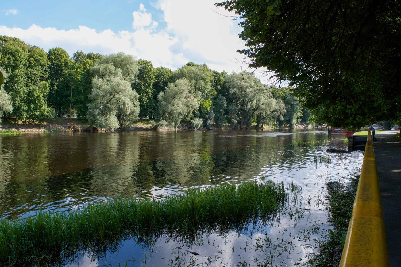 Emajogi River in Tartu, Estonia