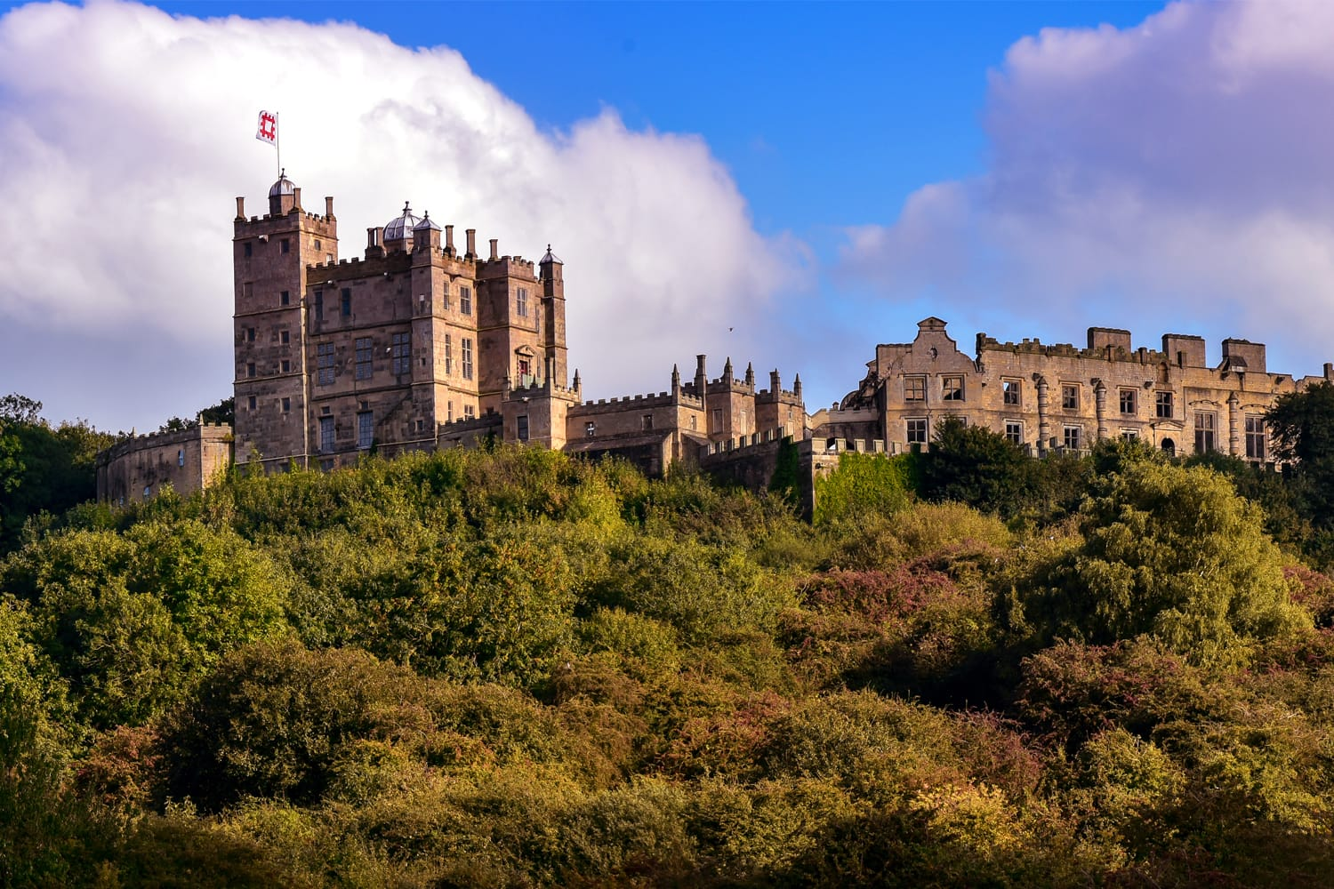 Panorama of Bolsover Castle in Derbyshire England