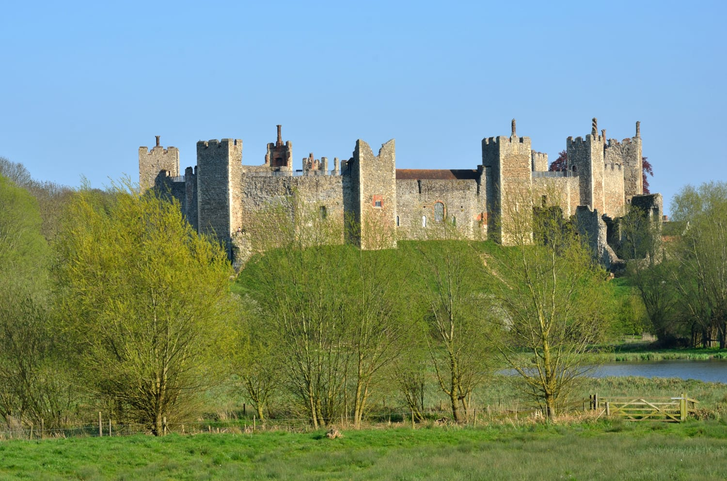 Framlingham castle in England, UK