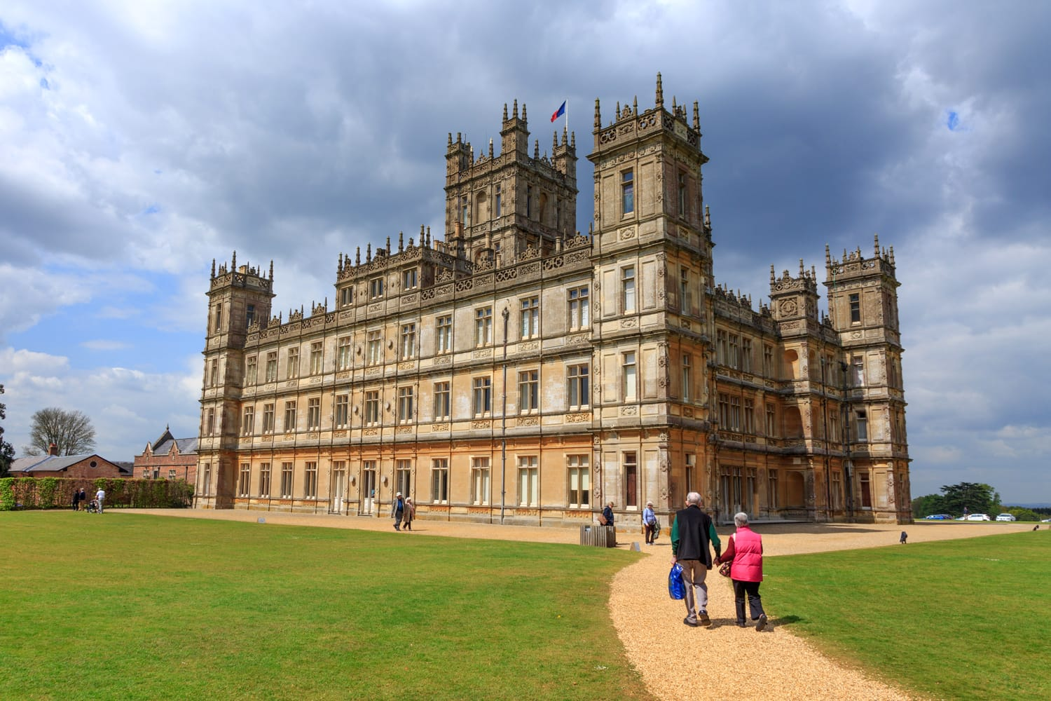 Highclere Castle. Jacobethan style country house, seat of the Earl of Carnarvon. Setting of Downton Abbey.