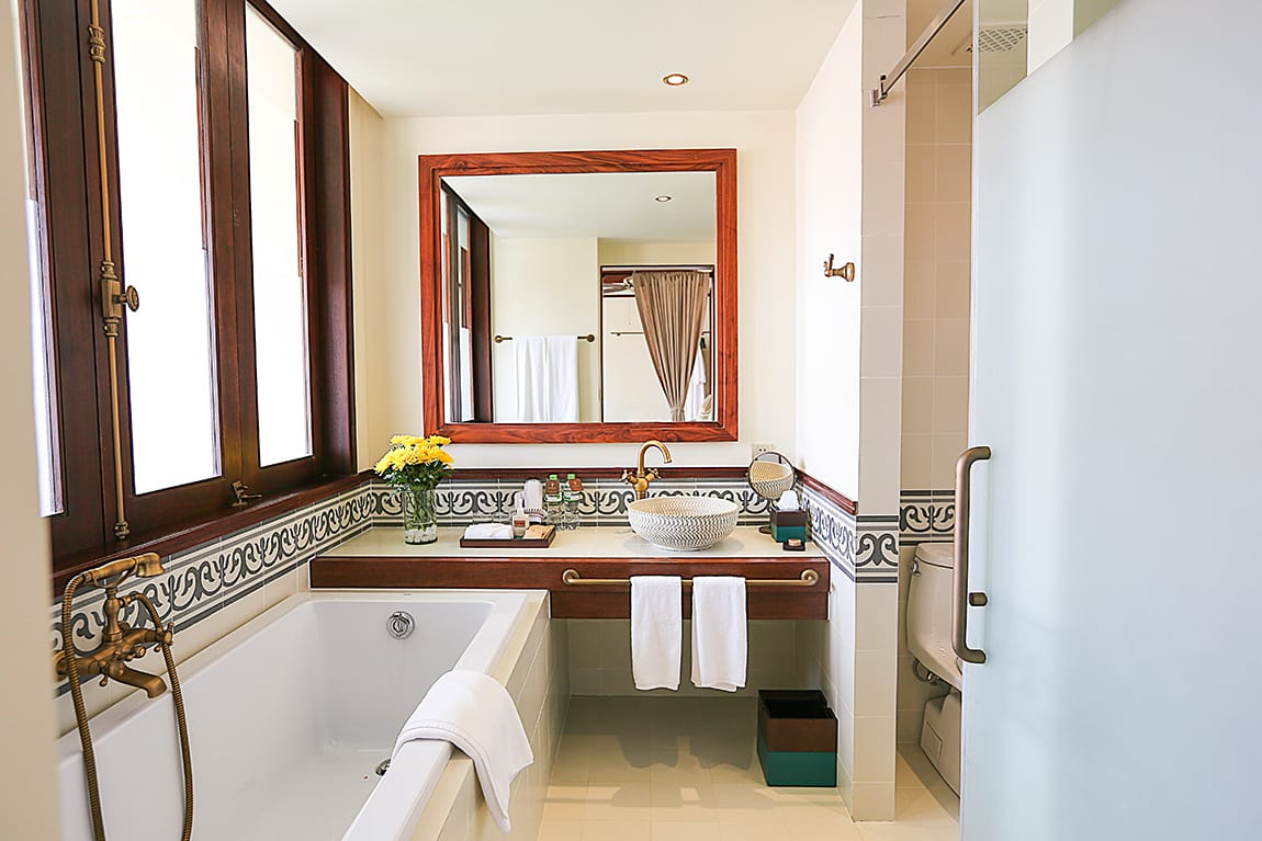 My Energy Bathroom at the Almanity Hoi An Wellness Resort in Hoi An, Vietnam