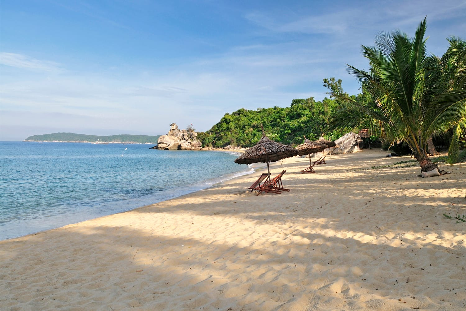 Sandy beach on Cham island, Central Vietnam, near Hoi An ancient town