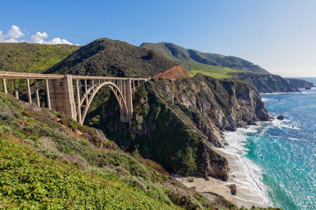 Bixby Bridge Along the Pacific Coast highway Big Sur California