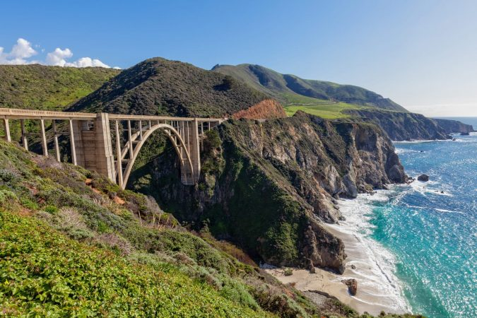Bixby Bridge Along the Pacific Coast highway Big Sur California