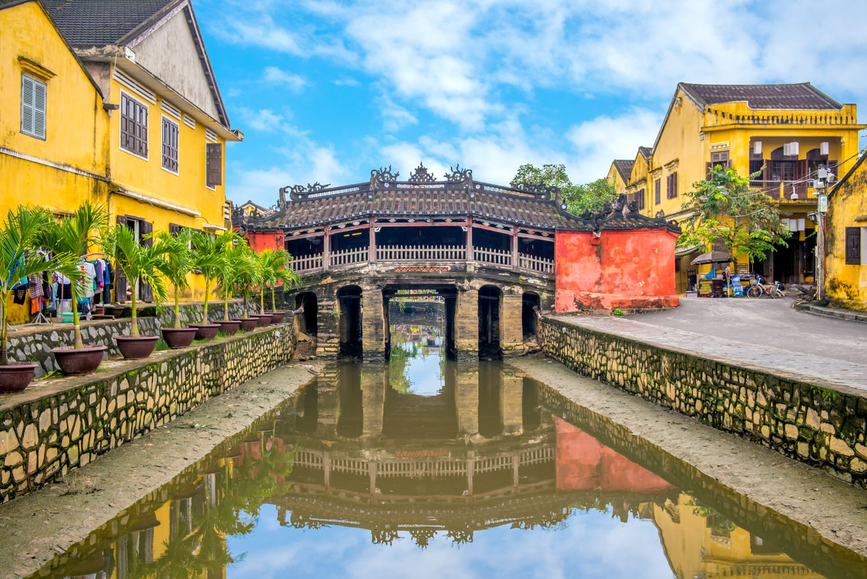 Japanese Covered Bridge, also called Lai Vien Kieu in Hoi An, Vietnam