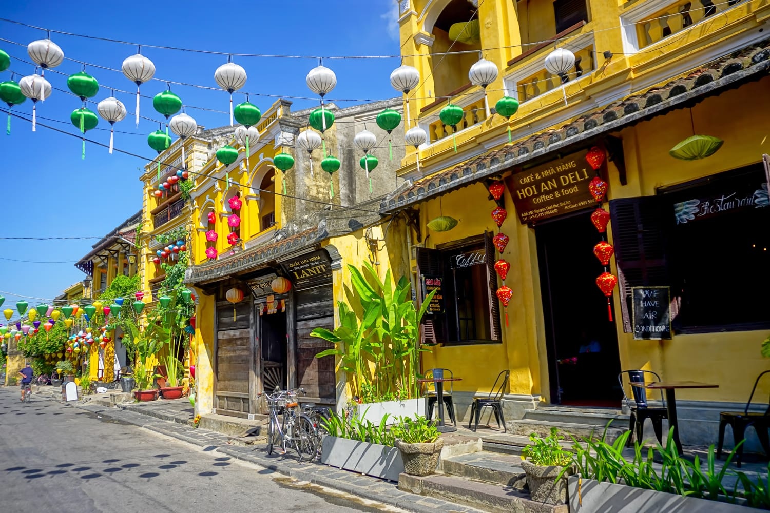 The street view of Hoi An, Vietnam.