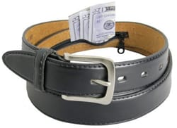 LeatherBoss Men's Leather Money Belt