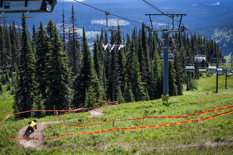 Mountain Biking at Sun Peaks Resort in Canada