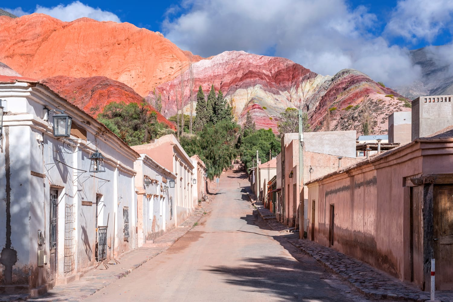 Purmamarca town and colorful mountains