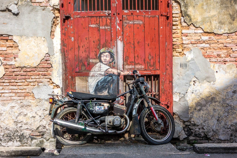 Motorcycle Street Art in Penang