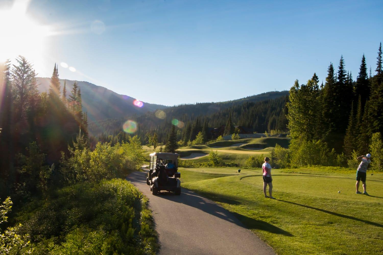 Golfing at Sun Peaks Resort in Canada