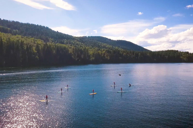Paddle Boarding at Sun Peaks Resort in Canada