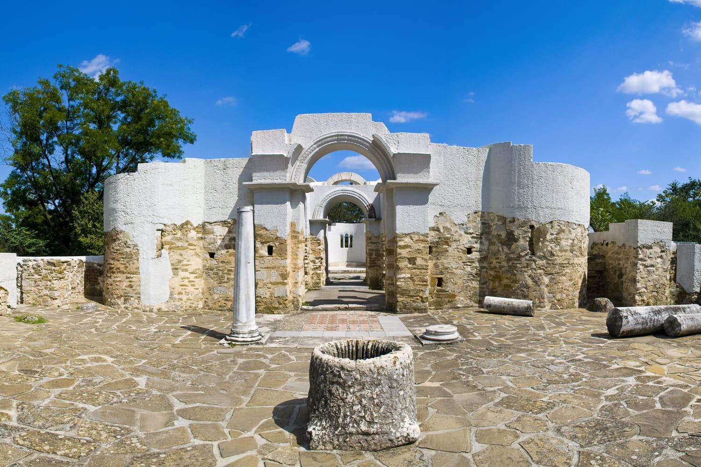 Ancient ruins Veliki Preslav Bulgaria