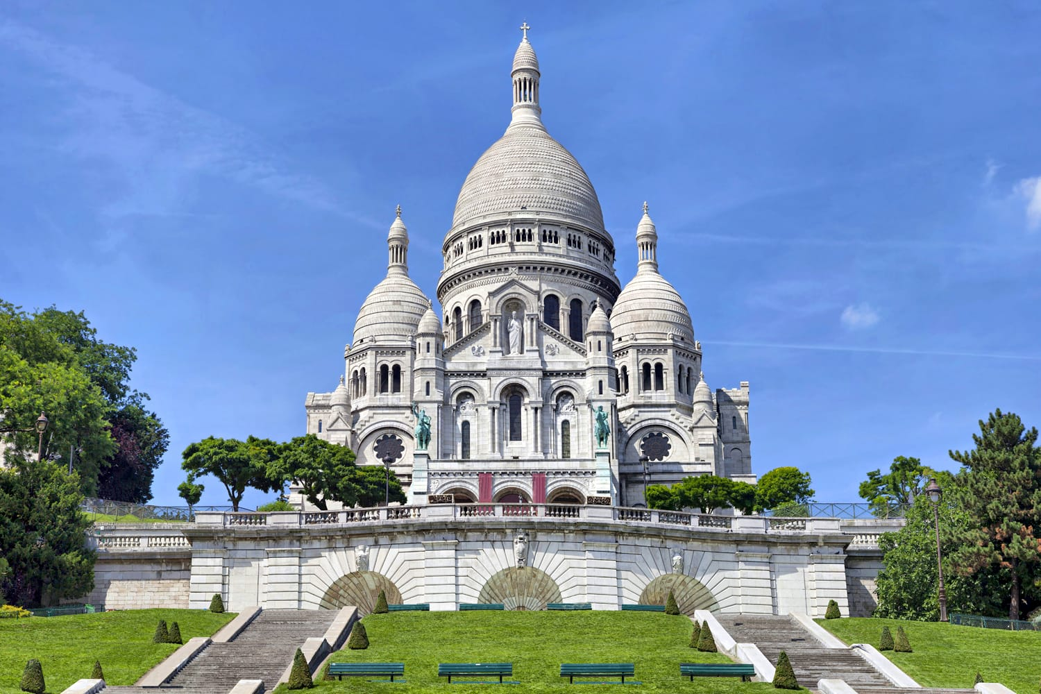 Basilica of the Sacred Heart in Paris, France