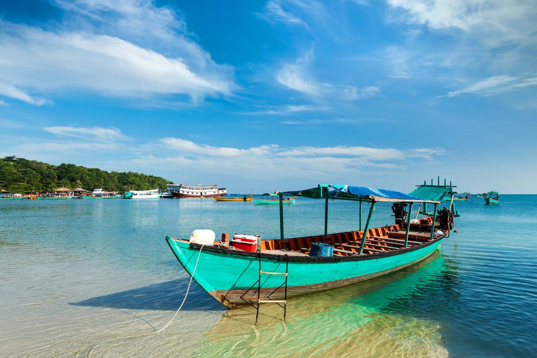Boats in Sihanoukville, Cambodia