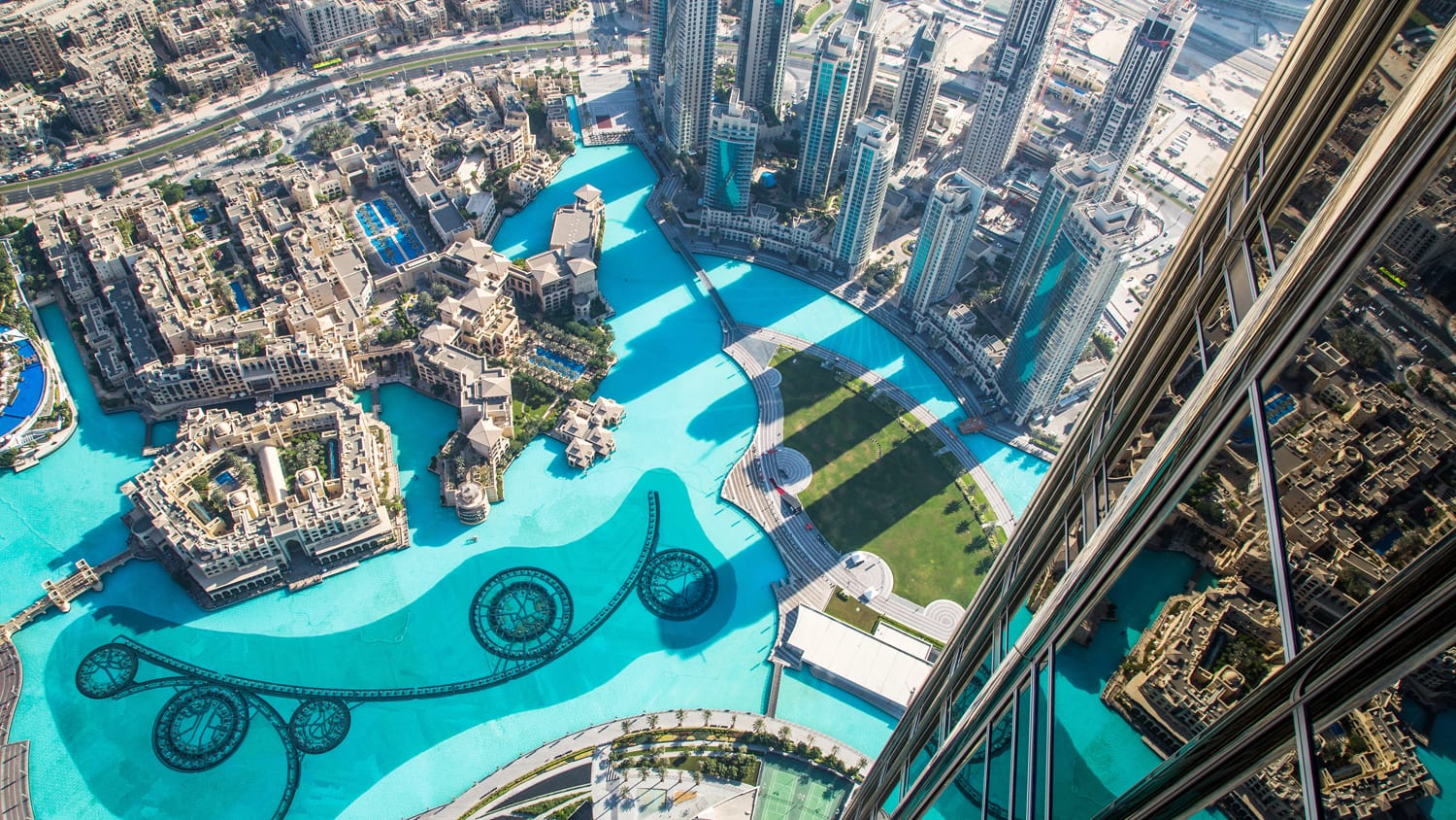 View from Burj Khalifa in Dubai, UAE