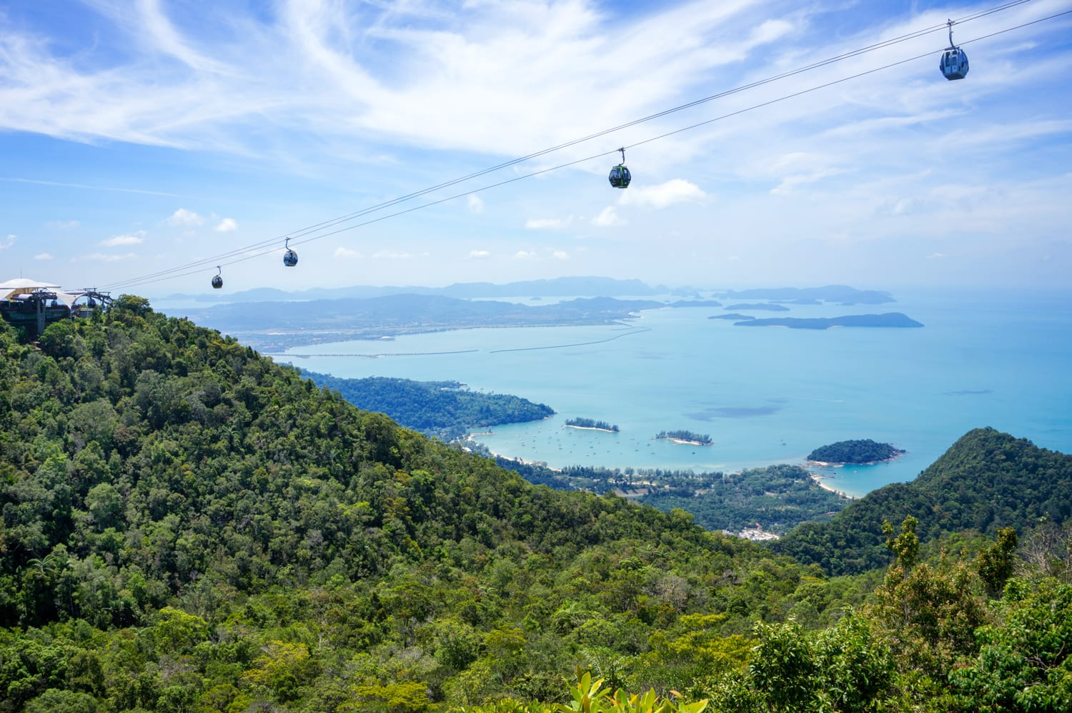 The landscape of Langkawi seen from a Cable Car