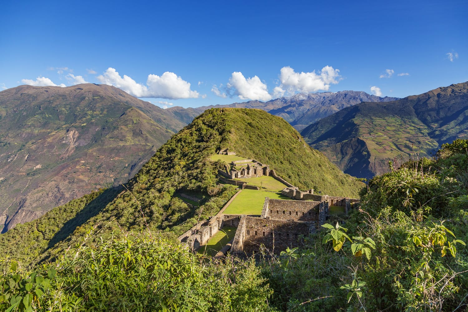 Choquequirao Inca city in Peru