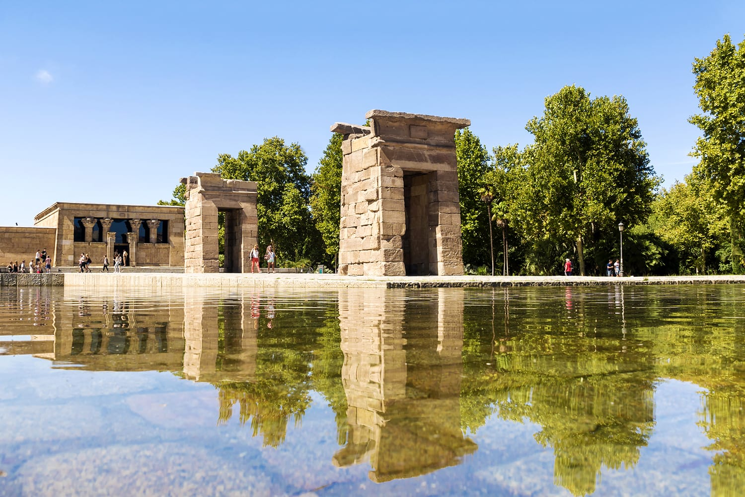 Debod Temple in Madrid, Spain