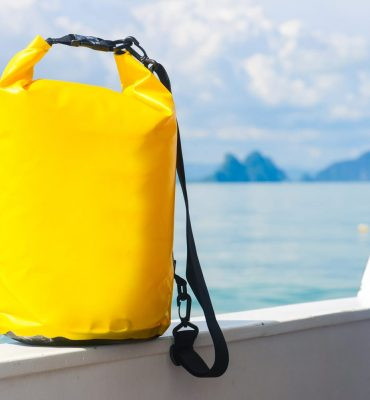 yellow waterproof dry bag for travel