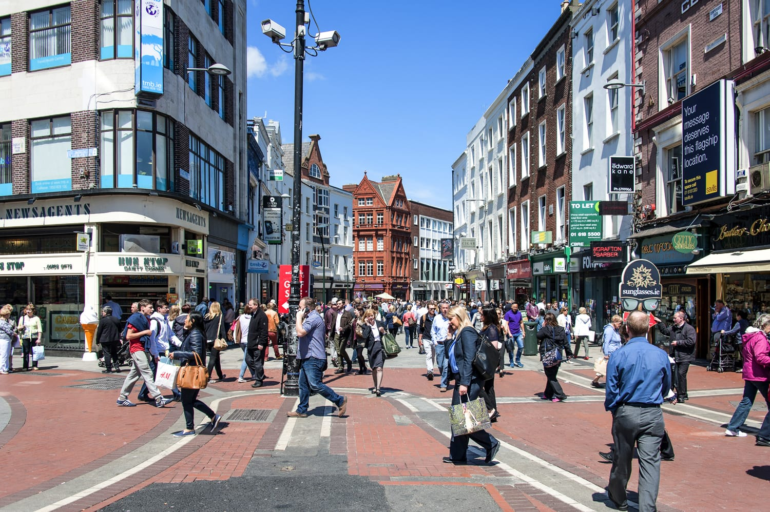 Grafton Street in Dublin, Ireland