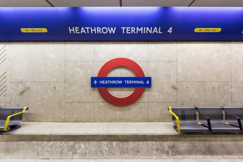 Image result for underground london heathrow station