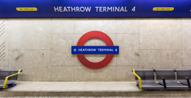 Heathrow Terminal 4 Underground Station in London