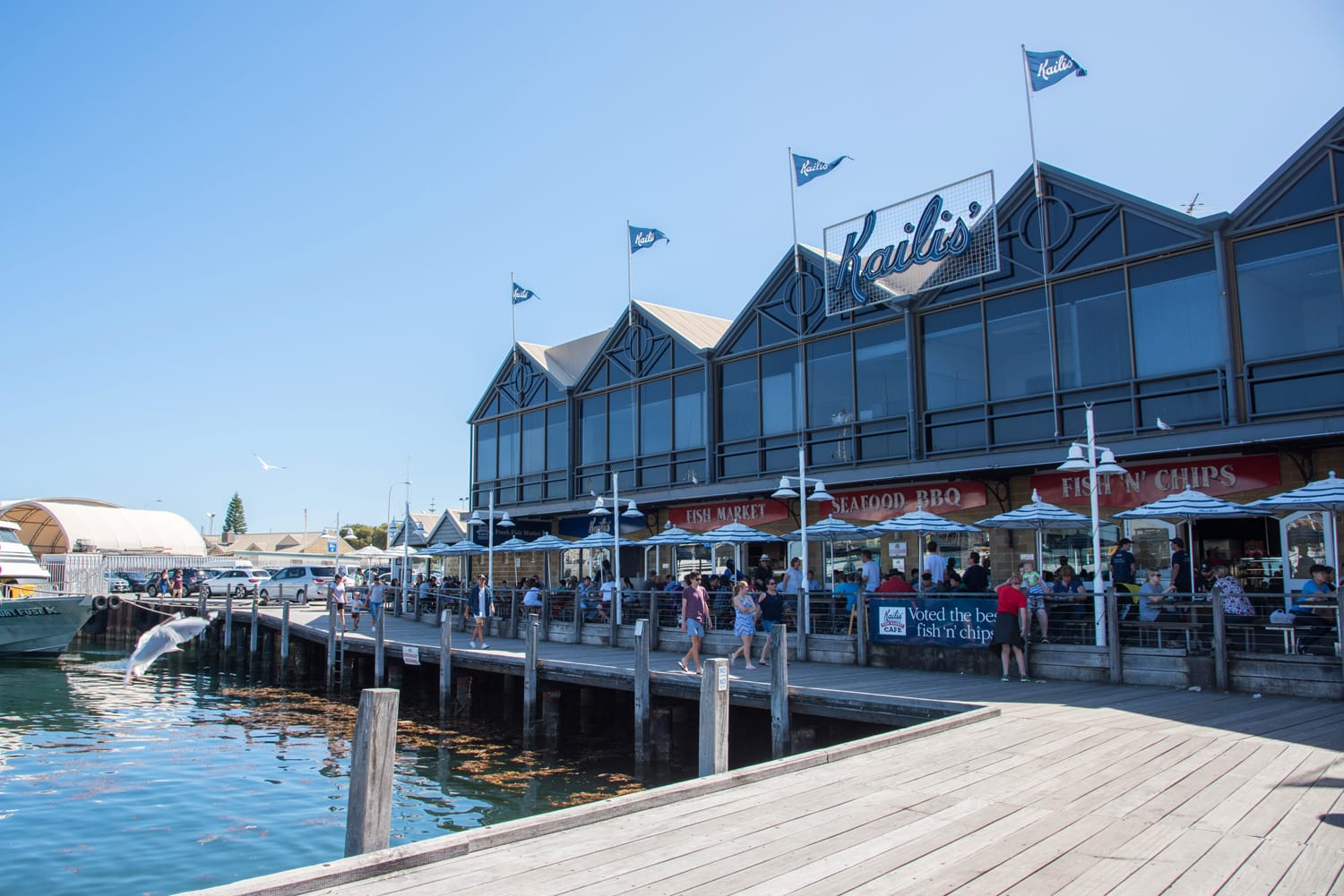 Kaili's Fish Market in Fremantle, Western Australia